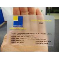 Buy cheap All people love Plastic pvc Frosted Transparent Business Cards from wholesalers