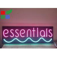 Buy cheap Neon Window Signs With DC 12 Volt Black Backing Pink Words Using At Home from wholesalers