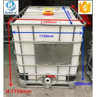 China Poly used plastic ibc tank container tote 1000l with steel cage on sale