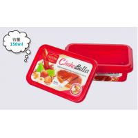 China Colorful Housewares Promotional Plastic Food Storage Containers For Yoghourt Or Butter on sale
