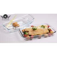 Buy cheap Oven Safe Rectangular Heat Resistant High Borosilicate Glass baking tray from wholesalers