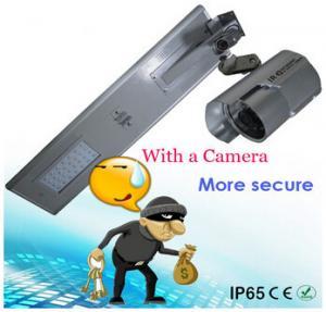 China integrated solar street light 20W camera outdoor wireless solar power security IR camera on sale