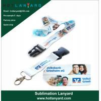 Buy cheap Custom Logo Sublimation Heated Transfer Neck Nylon Woven Polyester Printing product