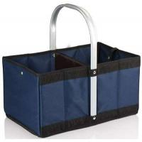 Buy cheap Urban polyester Basket Reusable Shopping Bag Collapsible/Folding/Folds - Navy Blue from wholesalers