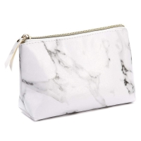Buy cheap Marble PU Travel Makeup Brush Organizer Pouch With Gold Zipper from wholesalers