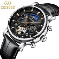 Buy cheap KINYUED Men Luxury Brand Wrist Watch Strap Mechanical Automatic Moon Phase Watch Relojes from wholesalers