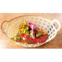 Buy cheap Stiffened Cotton Crochet Small Decorative Lace Doily Bowl Basket Handicraft Wastepaper Wed from wholesalers