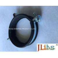 Heavy / Light Pipe Pipe Strap Clamp Cast Iron Welding Type Clamps M8 + 10 With Rubber Manufactures