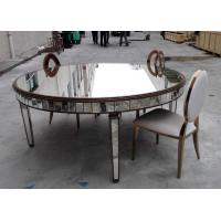 Buy cheap Large Size Mirrored Dining Table Lacquer Painting Finish Customized Color from wholesalers