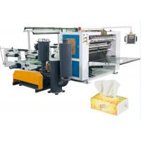 Buy cheap V - Fold 5 Line Facial Tissue Paper Folding Machine With Siemens PLC And HMI from wholesalers