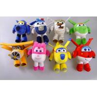 8 Style 20cm Super Wings Airplane Cartoon Plush Toys Red / Green / Yellow Manufactures
