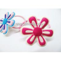Wholesale Free sample fabric sunflower shape hair ring hairpin for girls from china suppliers