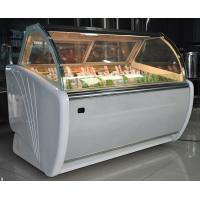 Buy cheap Fan Cooling Ice Cream Display Case , Curved Glass Popsicle Display Freezer from wholesalers