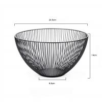 Buy cheap Homecon Temporary Fruit Bowl  Kitchen Black Metal Wire Stainless Steel Fruit Storage Basket from wholesalers