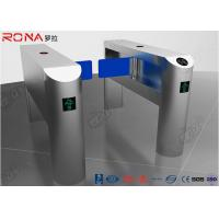 Buy cheap Single Pole Half Height Turnstile , Pedestrian Turnstile Gate With Card Reader from wholesalers
