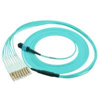 Buy cheap High Speed OM3 Fiber Optical MTP Trunk Cable MPO Patch Cord 12 Cores from wholesalers