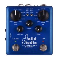 Buy cheap Solid Studio IR Power Amp Simulator Guitar Multi Effect Pedal Dual Footswitch Builtin 8 Cabinet 8 Microphone True Bypass from wholesalers