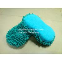 Buy cheap microfiber chenille car cleaning, house cleaning sponge applicator pad from wholesalers