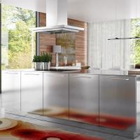 Buy cheap Silver Stainless Steel Kitchen Storage Cabinets Corrosion Resistant from wholesalers