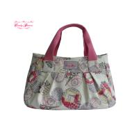 Buy cheap Dumpling Shape Floral Canvas Bag Waterproof Large Dark Blue with Red from wholesalers