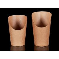 Buy cheap Single Wall Takeaway Food Packaging Brown Paper Corn Bevel Connection Cups For Chips from wholesalers