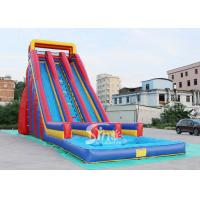 Buy cheap 10m high giant inflatable water slide for adults made of 0.55mm pvc tarpaulin material from China inflatable factory from wholesalers