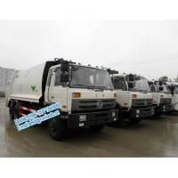 Buy cheap Strong compressive force white color Dongfeng 6x4 11ton 16 - 18m3 garbage compactor truck with self loading at rear from wholesalers
