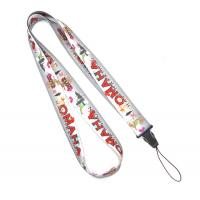 Buy cheap Grey Polyester Heat Transfer Print Lanyard For Mobile Phone , USB from wholesalers
