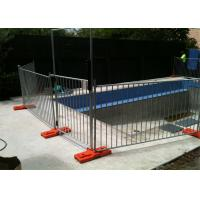Buy cheap 1100mm height x 2350mm width temporary pool fencing hot dipped galvanized base size 600x80x220mm from wholesalers