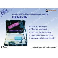 Portable 1064 / 532 Laser Skin Treatment, Colorful Tattoo Removal Machine Manufactures