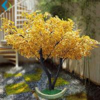 Wholesale Golden Artificial Ginkgo Tree For Wedding Hotel Interior Landscaping Decoration from china suppliers