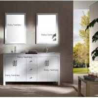 Buy cheap Solid Wood Shower American Bathroom Vanity 60'' 72'' With Double Sink from wholesalers