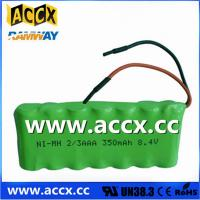 Buy cheap Nimh battery pack 8.4V 2/3AAA 350mAh from wholesalers