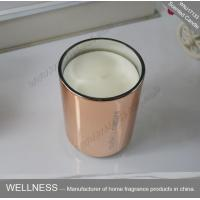 Wholesale Room Fragrance Pure Clean Soy Candles ITS Approved With Rose Golden Glass Jar from china suppliers
