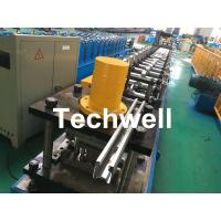 Galvanized Steel Guiding Column Shutter Door Roll Forming Machine Thickness 1.5-3.0mm Manufactures