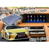 Buy cheap Lexus LC500 LC500h GPS Navigation Box video interface optional wireless carplay and android auto youtube Google play from wholesalers