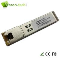 Buy cheap 10/100/1000BASE-T Copper SFP copper wire, RJ-45 Gigabit Ethernet from wholesalers