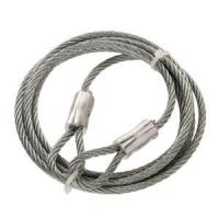 Buy cheap Thimble Hot-Dip Galvanized Steel Braided Wire Rope Slings 1x19 With Both End from wholesalers