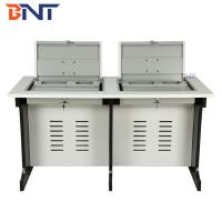 Buy cheap high quality gas spring  with 19 inch screen double manual flip computer desk from wholesalers