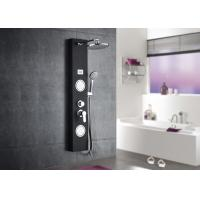 Buy cheap Black Tempered Glass Waterfall Shower Panel , ROVATE Massage Shower Panel from wholesalers