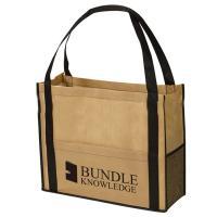 Customized Reusable Non Woven Handbag Pp Laminated Bags Good Breathability