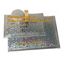 Buy cheap air mail metallic holographi rose gold bubble padded mailer / ziplock bubble bag/ slider bubble bag,Holographic Factory from wholesalers