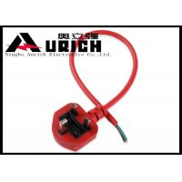 Buy cheap Waterproof BSI Approved UK Power Cord For Home Appliance Red Color from wholesalers
