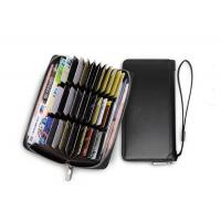 Buy cheap Anti-theft brush multi-position card bag male bank card set credit card holder large capacity long wallet for men from wholesalers