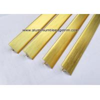 Buy cheap T20 T Shaped Aluminum Extrusion Decorative Profiles / Strips For Door Brushed Gold from wholesalers