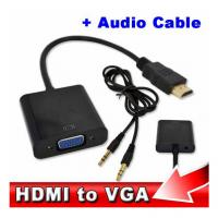 Wholesale HDMI to VGA with Audio Cable M/F 1080p HDMI to VGA Converter for Xbox 360 PS3 Manufactures