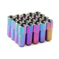 Buy cheap Neo Chrome Racing Wheel Nuts 12 x 1.5 for Acura , Toyota , Mazda , Buick , Ford from wholesalers
