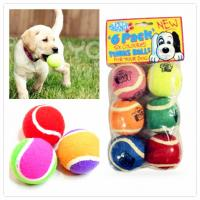 China Eco-friendly rubber toy tennis ball for pet games on sale
