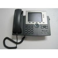 Buy cheap UC Cisco IP Phone 7945 , CP-7945G Used Cisco Phones Gig Ethernet Black Color product