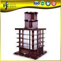 Buy cheap Fixed solid wood made beer supermarket display rack HJ-C 01 from wholesalers
